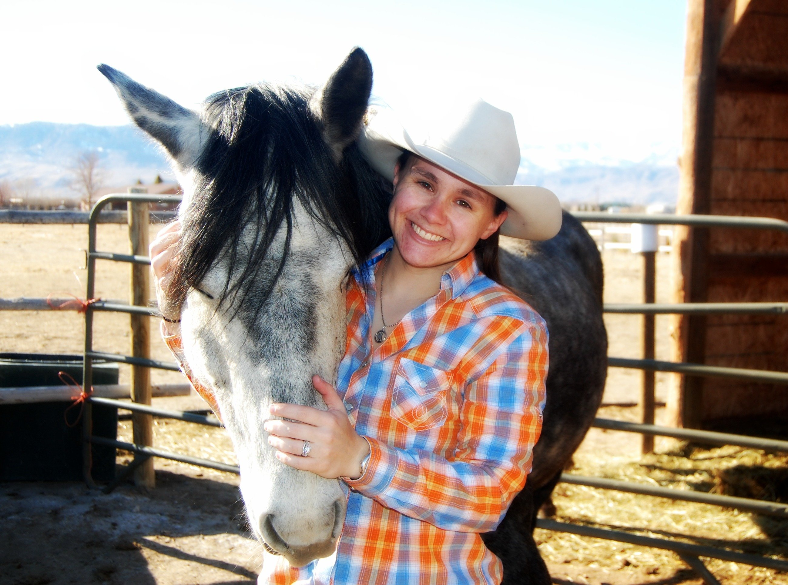 Team member Tessa with her horse